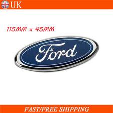 1PCS Badge Emblem Front Back Boot Trunk Logo For Ford 115MM x 45MM