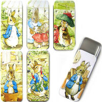 PETER RABBIT SLIDER TIN / Beatrix Potter Metal Pill Storage Trinket Box Kid Gift