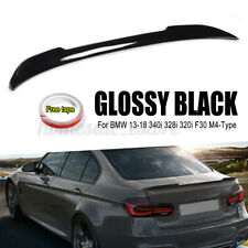 Rear Trunk Spoiler Lip Wing ABS Glossy For BMW F30 340i 328i 320i M4-Type 13-18
