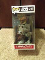 Funko Pop Star Wars Chebacca With AT-ST 236 vinyl bobble head Disney figure