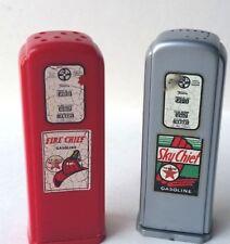 1940's TEXACO SKY FIRE CHIEF GASOLINE PUMPS Salt & Pepper Shakers