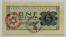 More details for 🍀 🇩🇪 germany.100% genuine banknote 5 reichsmark 1944 deutsche wehrmacht ww2