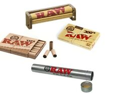 RAW Rolling Paper Bundle - Organic 300s+79mm Roller+Pre Rolled Tips+Storage Tube