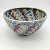 New large Serving Bowl Studio Art Martha Ungate Hayes hand thrown pottery signed