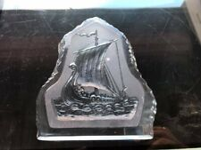 Glass Sailboat Paperweight by Nybro Sweden