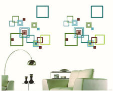 Variety Squares Colorful Wall Stickers Room Mural Decals DIY Home Decor Art
