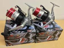 2 NEW LARGE LINEAEFFE SEA FISHING VIGOR SILK 70 BEACH PIER REELS AND LINE REEL