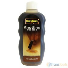 Rustins Knotting Sealer Solution 300ml for Sealing Knots in Wood