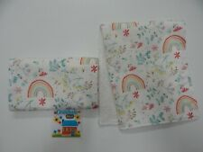 Floral Burp Cloths Rainbow Daisy 2 Pack Toweling Backed GREAT GIFT