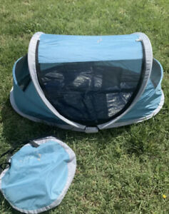 KidCo Baby Pea Pod Travel Bed Play Tent - Aqua Blue - Used Once