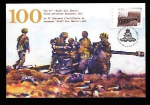 Canada 2013 The 49th Field Artillery Regiment RCA, special event cover, sc#S96