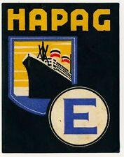 HAPAG Schiffahrtsgesellschaft / Reederei * Old Luggage Label Kofferaufkleber