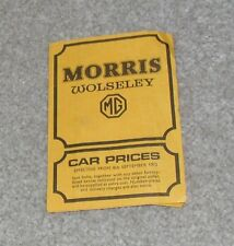 Morris Wolseley MG Price List 1972 Mini Clubman GT 1300 1800 2200 Six MGB GT