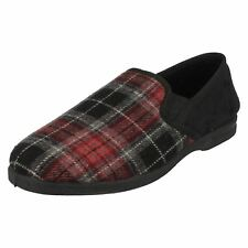 Mens X2013 check print slippers by Spot On £9.99