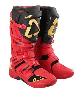 Leatt 4.5 Flexlock Motocross MX OffRoad Race Boots RIOJA Red Orange Adult