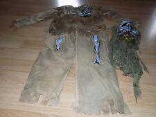 Boy's Size Large 12-14 Spirit Halloween Zombie Skeleton Costume Shirt Pants Mask