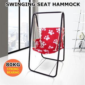 Hammock Chair w/ Iron Frame Stand Indoor Outdoor Swing Chair Home Garden Patio