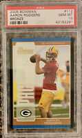 2005 AARON RODGERS Bowman Bronze PSA 10 POP 4 Green Bay Packers Rare Rookie RC