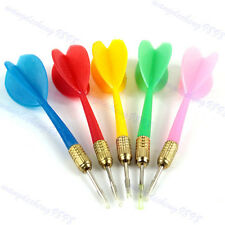 5PCS Color Plastic Wing Darts Needle Kids Tone Dart Steel Brass Throwing Tip Toy