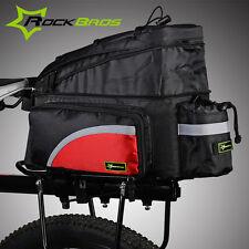 Rockbros Bike Bag Rear Carrier Bag Rear Pack Trunk Pannier Red New