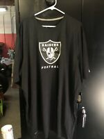 Men's Nike NFL RAIDERS Dri-Fit Black Shirt On Field Apparel Size 3XL NOS