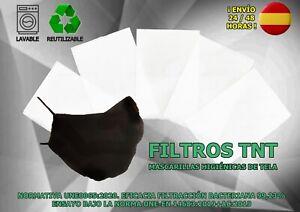 filtros filtro TNT para 1Mascarilla Tela bolsillo abertura cubrebocas tapabocas
