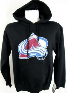 Colorado Avalanche Mens Small Screened Pullover Hooded Logo Sweatshirt ACAV 55