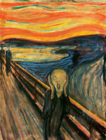 The Scream by Edvard Munch, Hand-painted Oil Painting Reproduction on Canvas Art