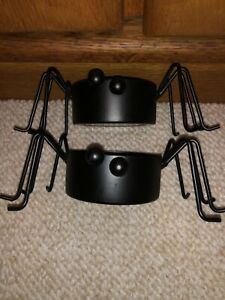 Gold Canyon Candle Black Spider Votive Holders (Preowned)