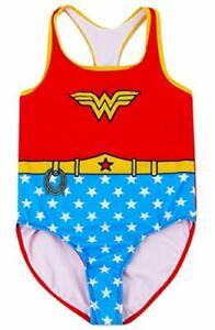 Dreamwave Girls' Wonderwoman One Piece Swimsuit 14