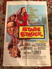 "Stage Struck 1958 RKO 27x41""one sheet Henry Fonda Susan Strasberg"