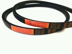 2 Genuine  Mitsuboshi   PTO Belts For Kubota T1600 Replaces P/N 66091-25090A