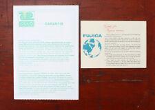 FUJICA ST-801 EUROPEAN GUARANTEE CARD/131343