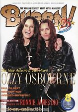 Burrn! Heavy Metal Magazine August 2010 Japan Ozzy Osbourne Angra Dio Opeth