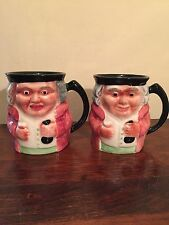 Vintage Shorter & Son Pottery Pair Of Character Toby Mugs