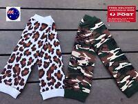 Girl Kid Boy baby Camo Army leopard knees Calf High long Socks Tights Gloves