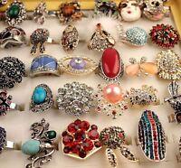neu los 35 stk gemischt Damen Mode Metalllegierung Schmuck Ringe Großhandel