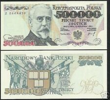 POLAND 500000 ZLOTYCH P161a 1993 BOOK FLAG UNC 1/2 MILLION POLISH CURRENCY NOTE