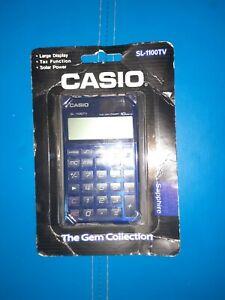 Casio SL-1100TV-BU Electronic Calculator 10-Digit BIG LCD Twin DEEP SHAPPHIRE