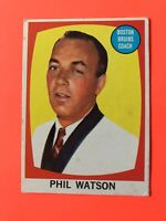 Phil Watson 1961-62 Topps #1  Vintage Hockey Card