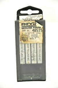 "RIDGID 48525 RIGHT HAND ALLOY STEEL 500B BOLT DIES. 1 3/4""- 5 UNC"