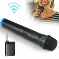 Black Professional Wireless Karaoke Microphone Mic with VHF Receiver