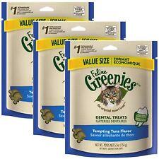 Feline Greenies Dental Treats 5.5 oz Tuna   3 PACK   Vet Recommended For Cats