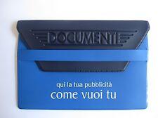 45 porta documenti auto personalizzati blu chiaro blu scuro