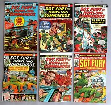 6x Marvel Comics Sgt. Fury and his Howling Commandos US Comics 70er years #A-807