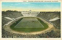 DB Postcard Ca I216 Coliseum Exposition Park Los Angeles Football Field Sports