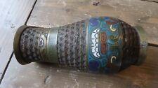 "Antique Chinese Brass Enamel Cloisonne Vase Dragon Symbolism 7.5"""
