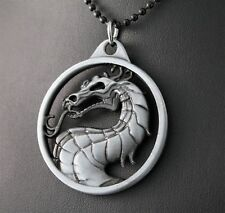 Alloy Mortal Kombat Dragon Pendant Necklace w/Free Jewelry Box and Shipping