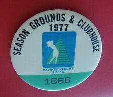 1977 Golf Tournament Pin Badge: BANKERS TRUST CLASSIC LPGA; Pat Bradley Winner