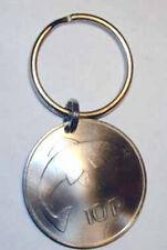 Coin Jewelry~Irish Silver Harp/Salmon key ring/necklace